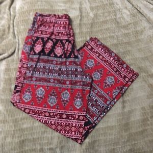 Red tapestry pants